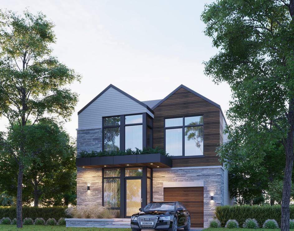 Modern House in Canadaby DEER Design