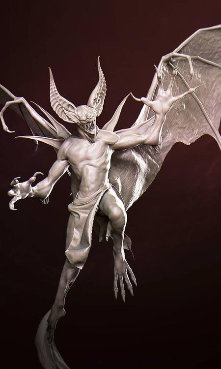 vampire horror creature model render 3d base colours