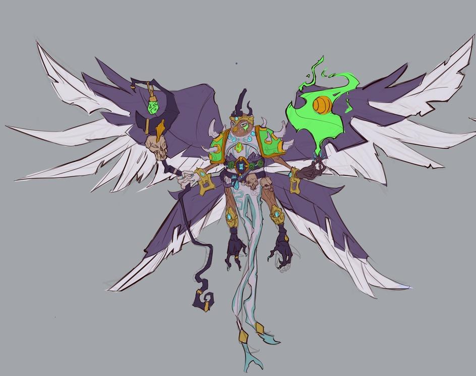 concept art dominant birdby Splimen