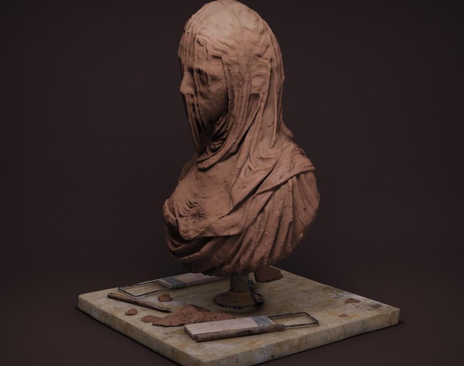 Veiled_woman (Dama Velata)by sachin pavasker