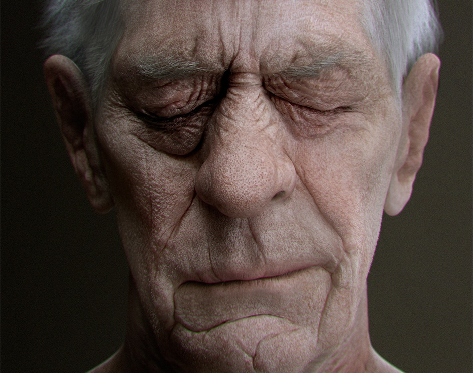 Old man's portraitby venetis