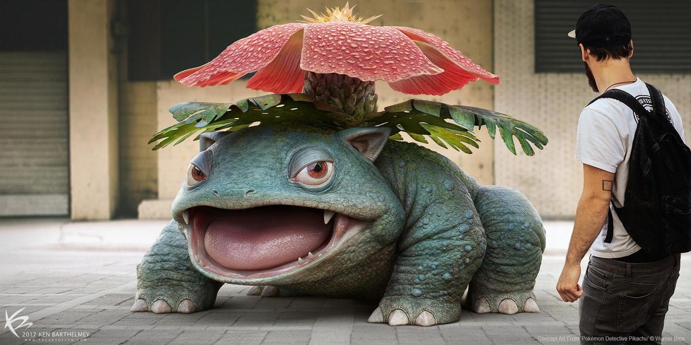 Pokémon Detective Pikachu 3d model creature design animal