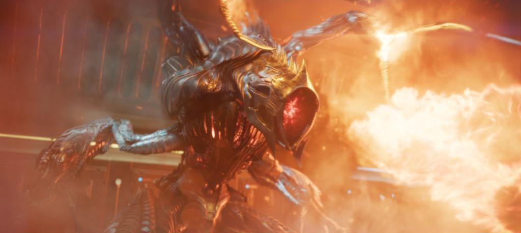 alien robot attack fire 3d model cgi