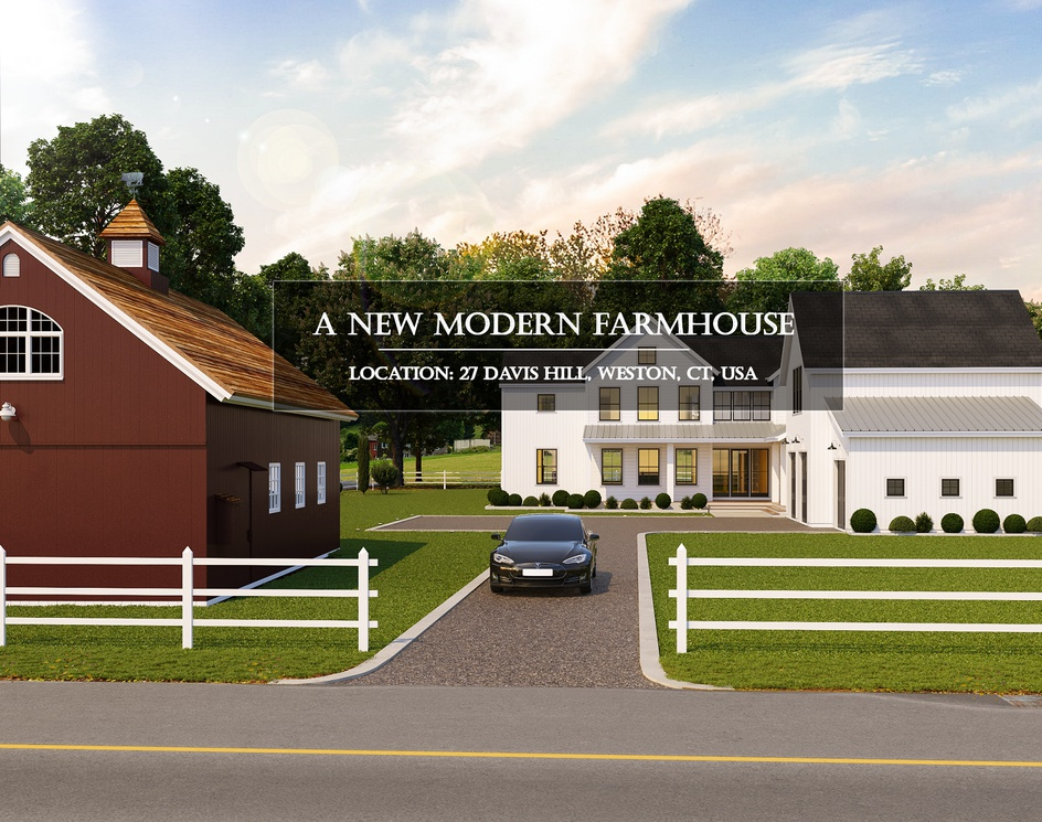 A New Farmhouse in USA   3D Architectural Visualization   DEER Designby DEER Design