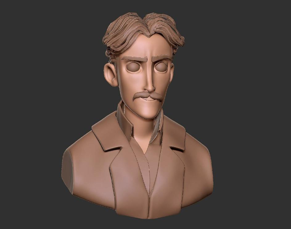 Stylized Nikola Teslaby Viktor Ardeljan