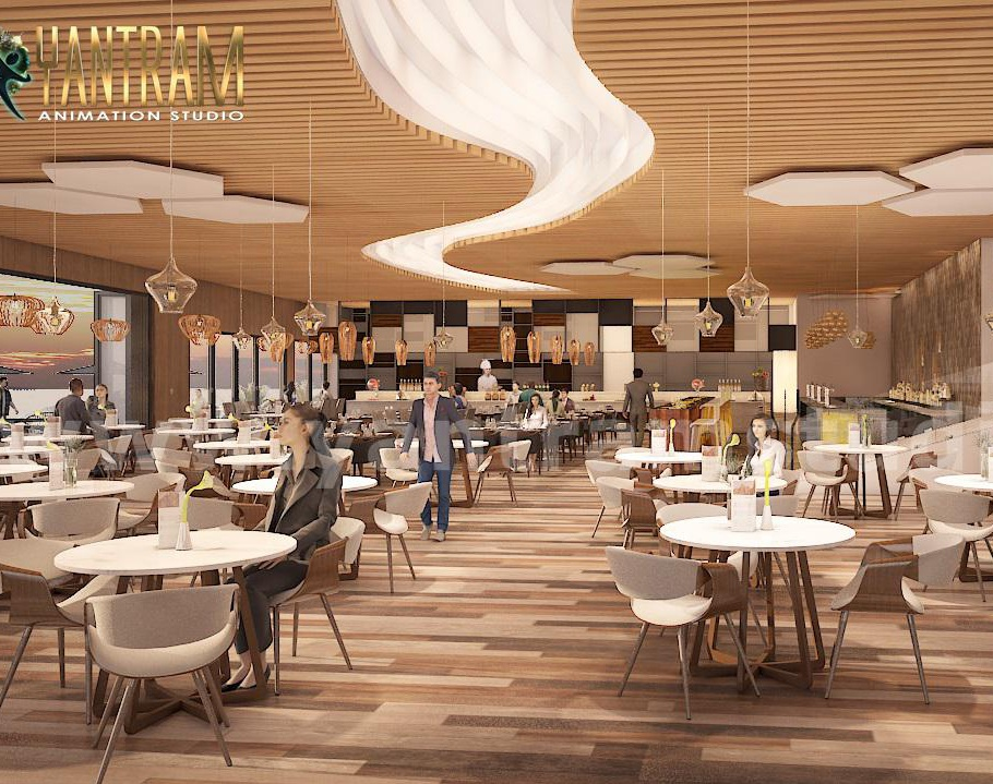 360 Panoramic Water side Restaurant Exterior & Interior of Virtual Reality Real Estate Companies by Architectural Studio, New York - USAby Ruturaj Desai