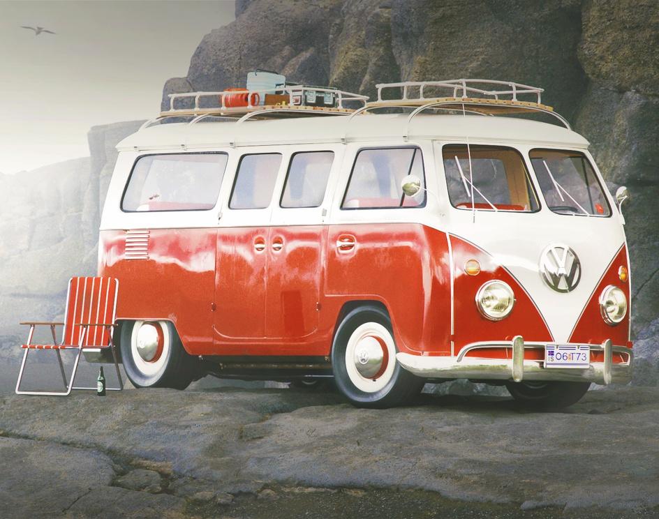 VW Campervan exploring Icelandby Taylor Cooper