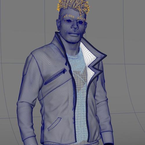 xgen masking 3d modeling hair character