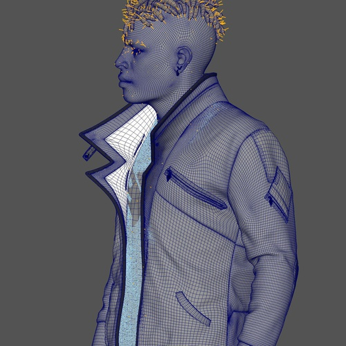 xgen masking 3d modeling hairstyle gaming character