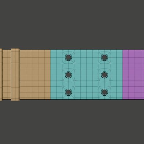 belt 3d model basic colors texturing shaping
