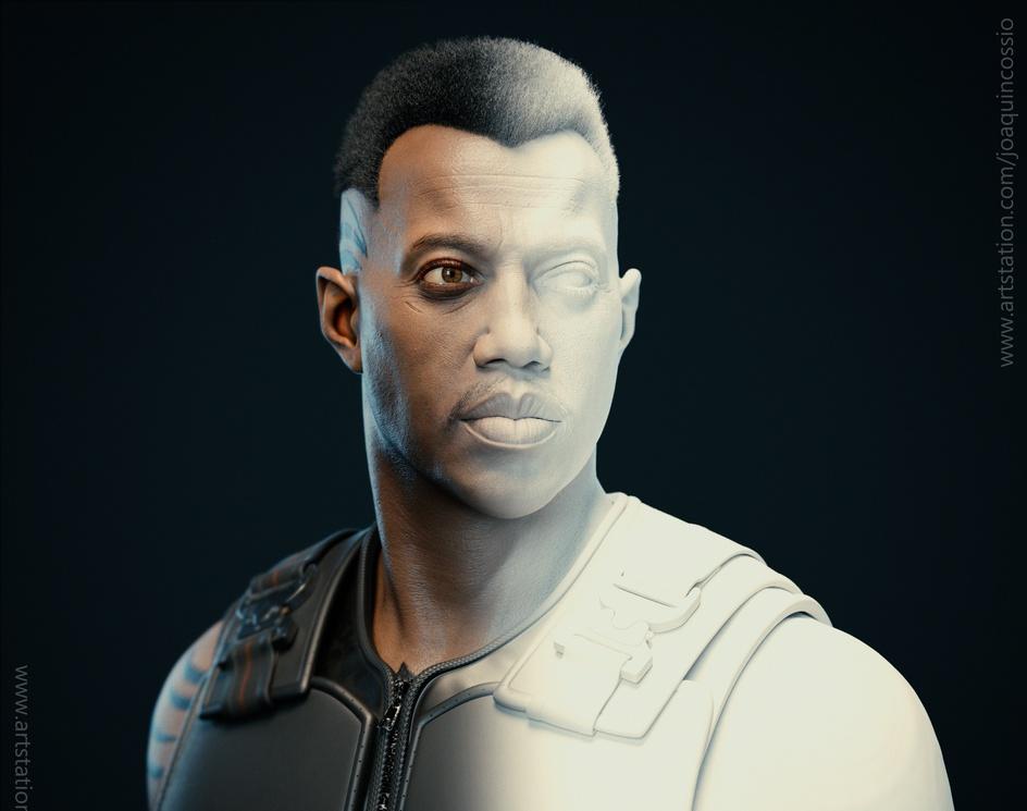 Blade: Wesley Snipes - Fan Artby jcossioart
