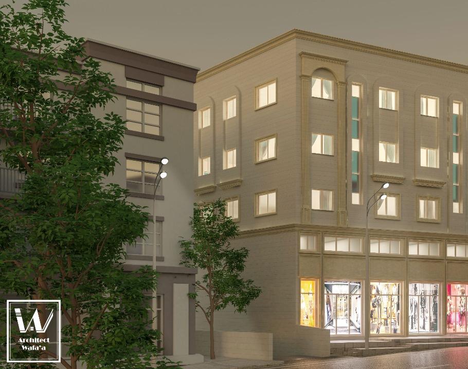 Commercial Building Designby Arch Wafa'a Khaled