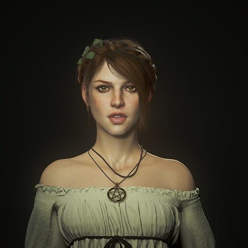 wicca girl portrait