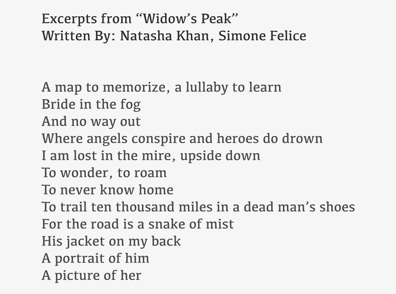widow's peak lyrics