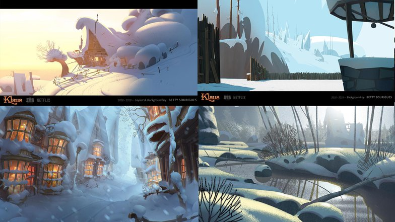 klaus summer winter references resources 3d environment