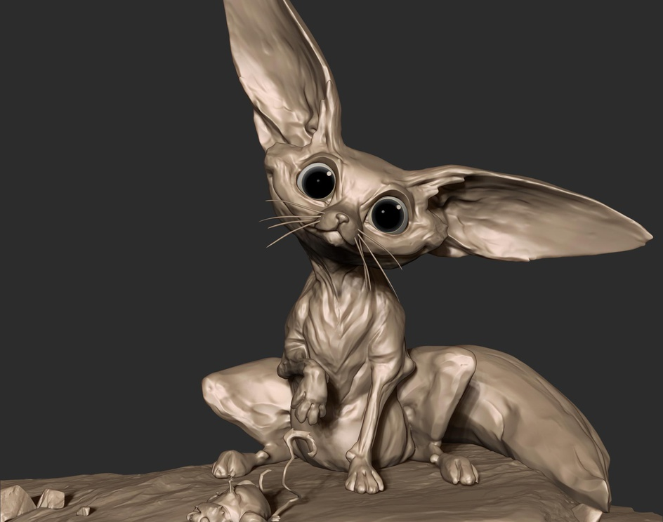 Fennec Fox // a present for youby Mickael Lelievre