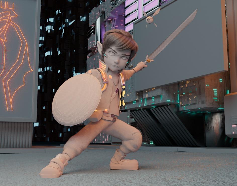 Link - The Legend of Zelda , Hyperlink to Ganon City.by Vinicius Tokue