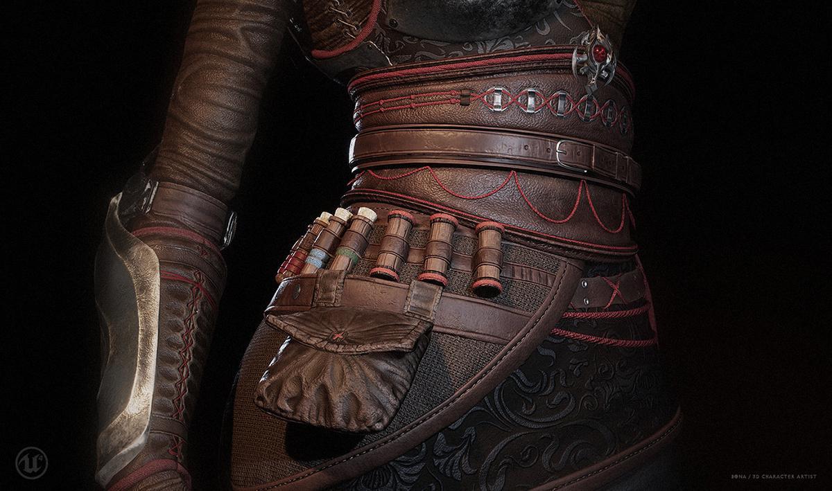 3d warrior assassins creed inspired model
