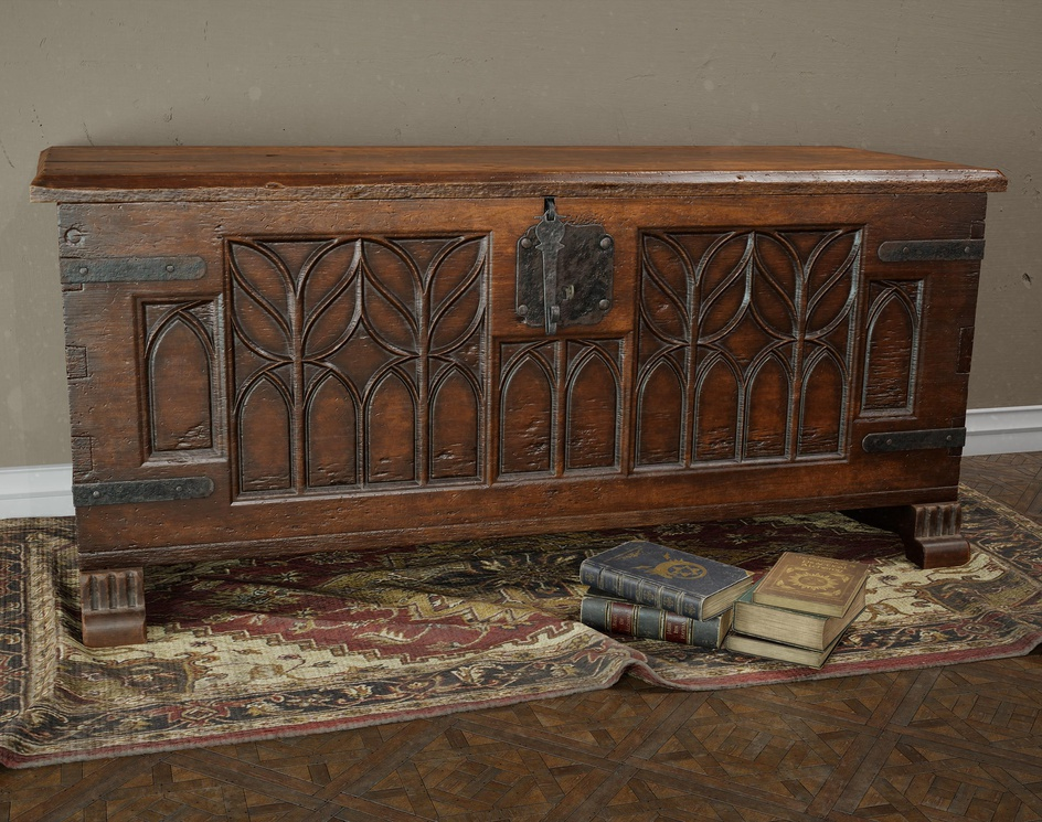Restored 17th Century Wooden Chest - Real Time Assetby Mohamed El Bouhy