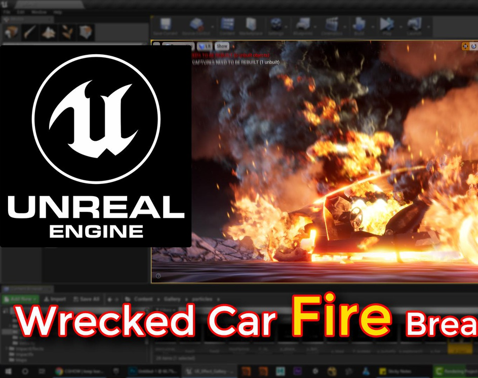 Unreal Engine | Wrecked Car Fire Breakdownby Ashif Ali