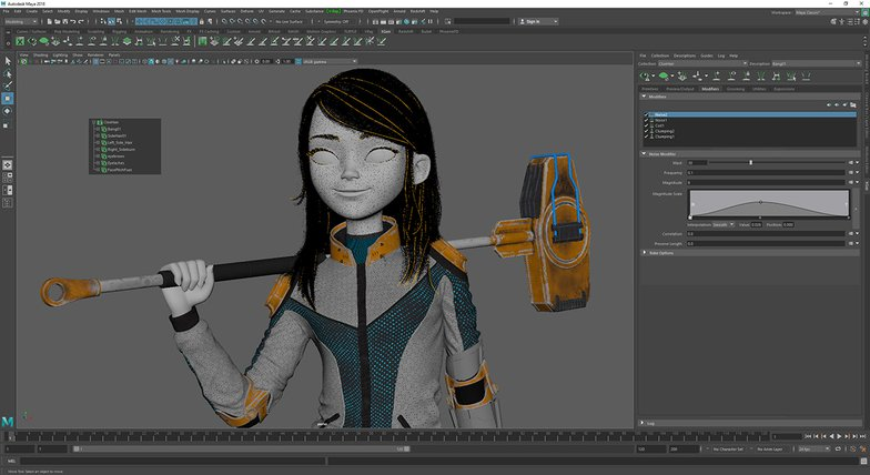 creating hair on a 3d character