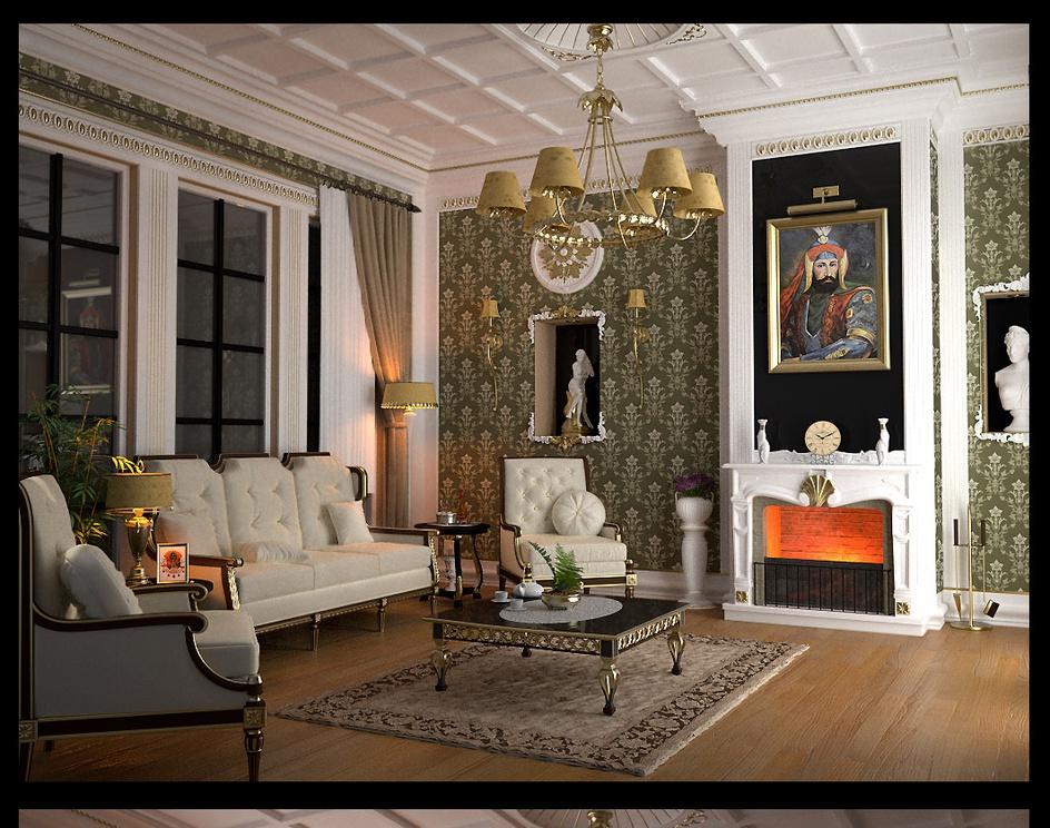 'Neoclassic Livingroom'by xsekox