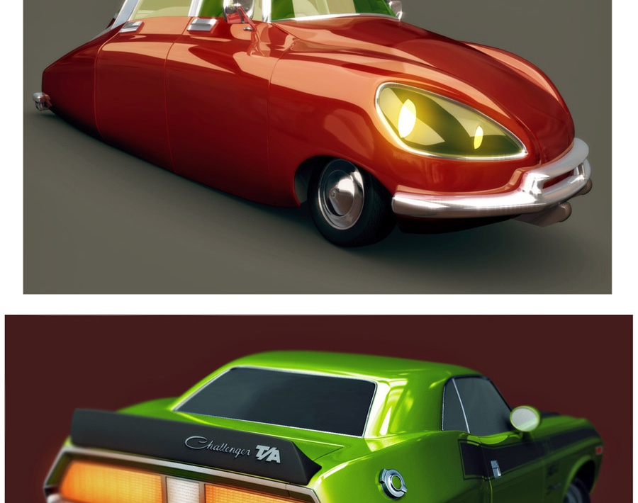 Stylised Ford 32, Stylised 69 DS & Stylised 70s Challengerby xtrm3d
