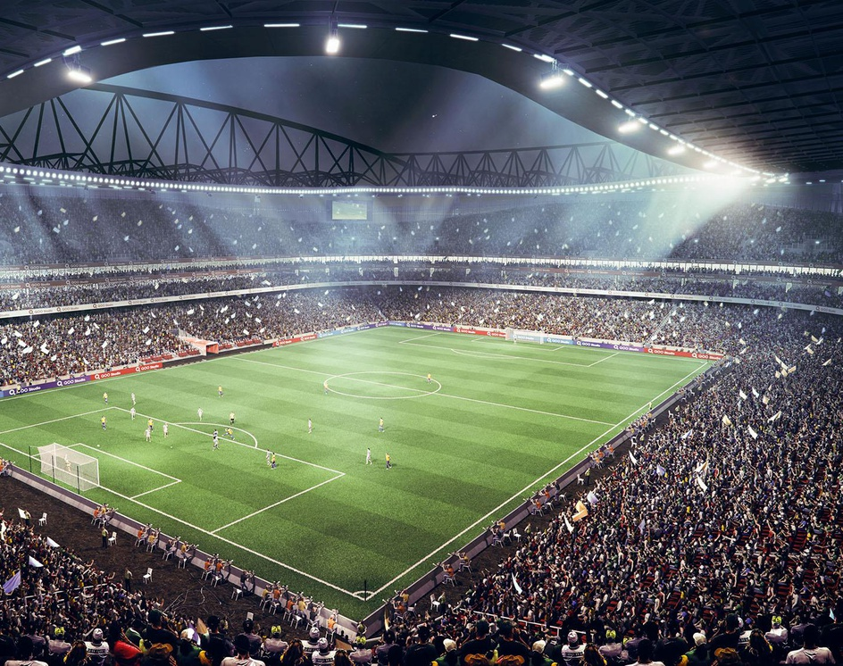 Yen Soccer Stadiumby Aref Razavi