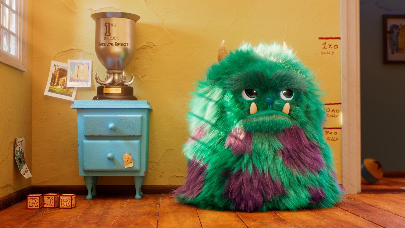 monsters inc pixar fanart 3d render creature monster