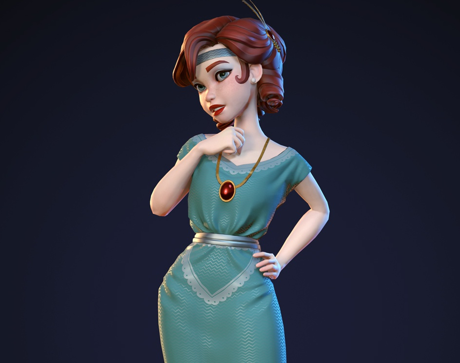 Lady Detective (Game Model)by Yuzach