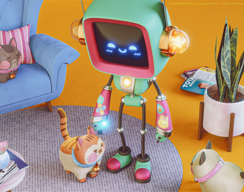Robot and Catsby Yuzach
