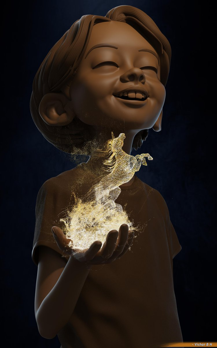 magical effects zbrush character model render magic fire
