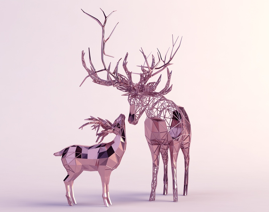 Rose Gold Creatures 2by Mohammed Alzahrani