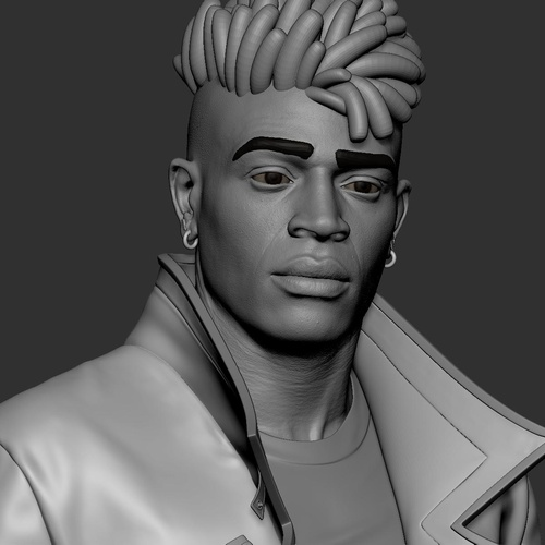 male character gaming fanart model UVs
