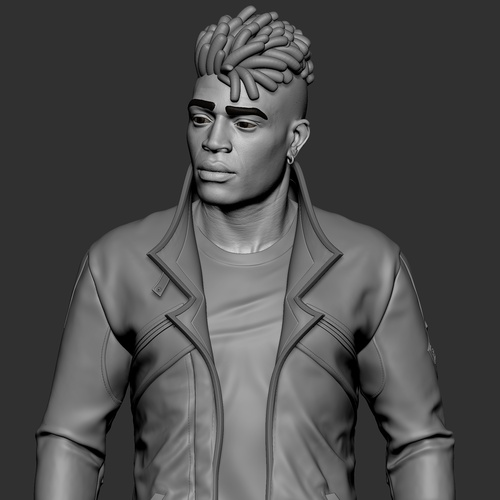 male character gaming fanart model zbrush projection