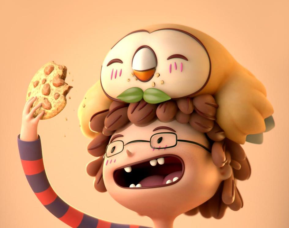 Rowlet likes cookiesby Zalkan