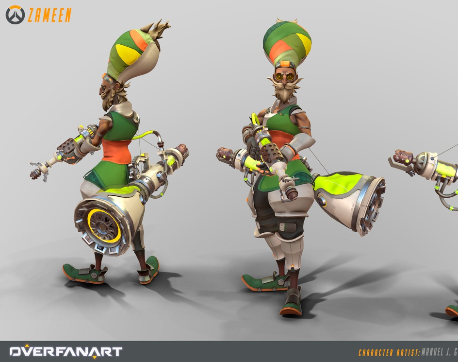 Zameen, Overwatch Fan-made Characterby Gallardodigital