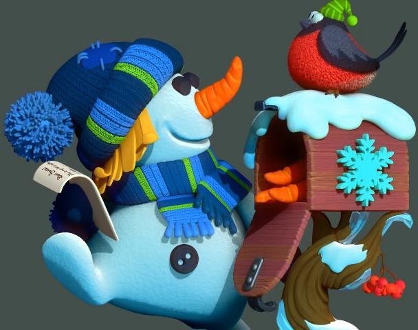 Snowman turntableby Ruslan Biriukov