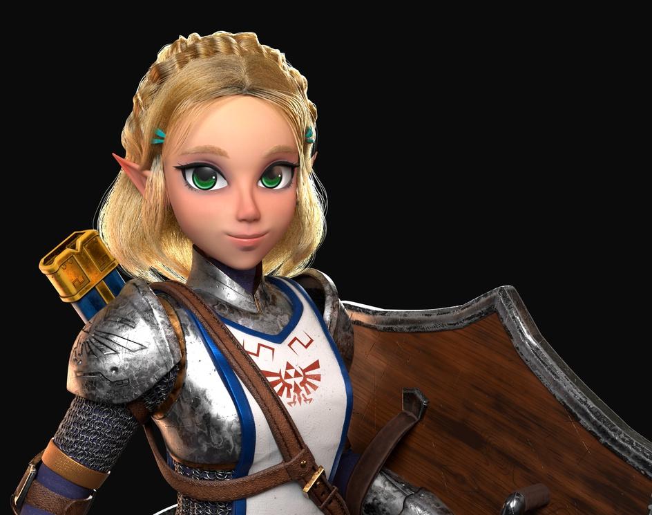 Zelda 3D Artworkby Thelian Arzate