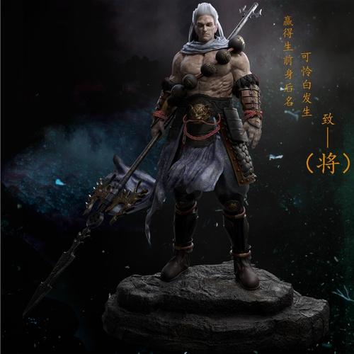 guardian warrior male 3d sculpt model render weaponry